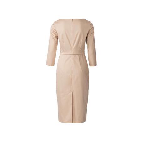 Wykrój BURDA: prosta sukienka zdekoltem karo, fig. 7