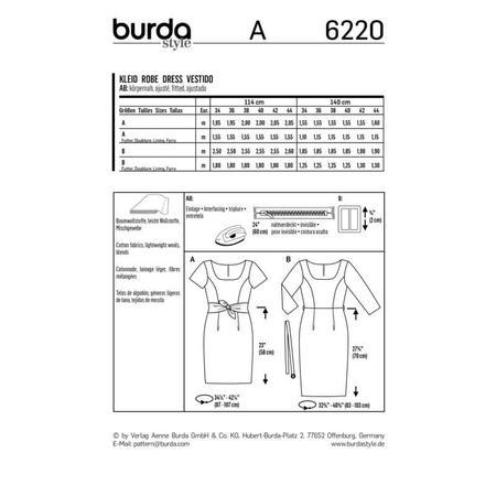Wykrój BURDA: prosta sukienka zdekoltem karo, fig. 9
