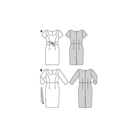 Wykrój BURDA: prosta sukienka zdekoltem karo, fig. 10