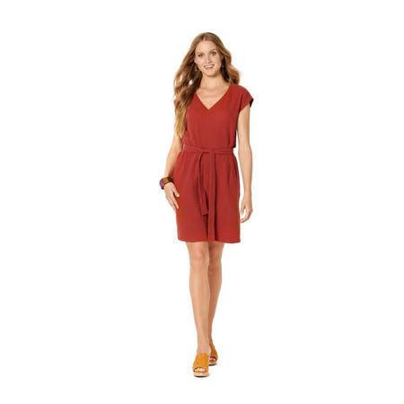 Wykrój BURDA: sukienka bez rękawów zdekoltem wserek i falbaną, o luźnym kroju, fig. 2
