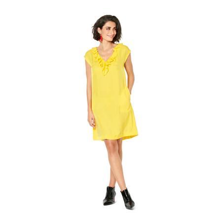 Wykrój BURDA: sukienka bez rękawów zdekoltem wserek i falbaną, o luźnym kroju, fig. 3