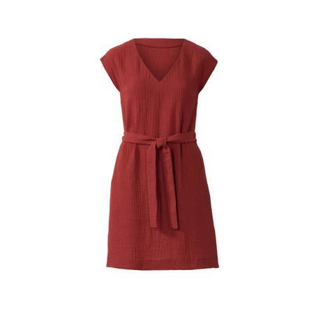 Wykrój BURDA: sukienka bez rękawów zdekoltem wserek i falbaną, o luźnym kroju, fig. 4