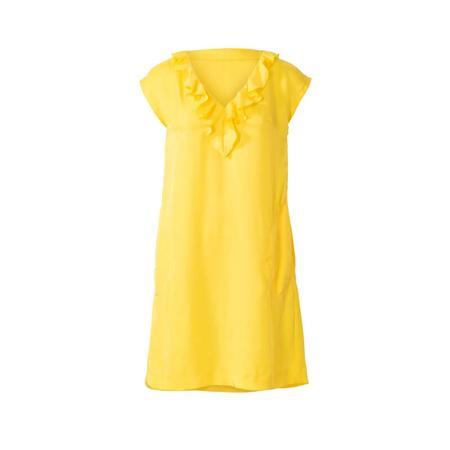 Wykrój BURDA: sukienka bez rękawów zdekoltem wserek i falbaną, o luźnym kroju, fig. 6