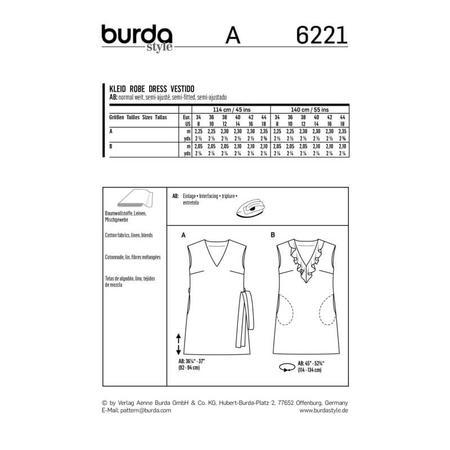 Wykrój BURDA: sukienka bez rękawów zdekoltem wserek i falbaną, o luźnym kroju, fig. 9