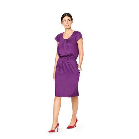 Wykrój BURDA: sukienka z zakładkami przy dekolcie i raglanowymi rękawami, fig. 2