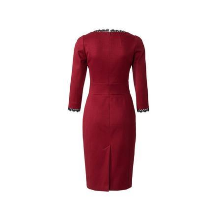 Wykrój BURDA: sukienka z panelem w talii i dwoma rodzajami dekoltu, fig. 5