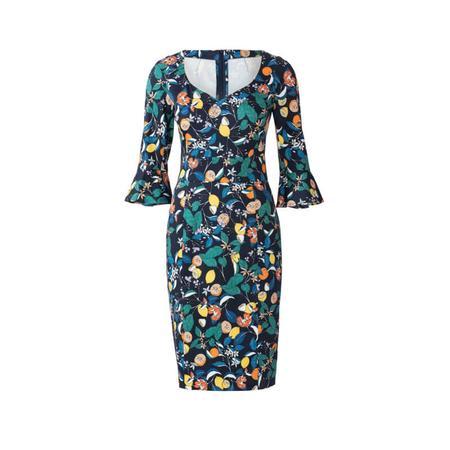 Wykrój BURDA: sukienka z panelem w talii i dwoma rodzajami dekoltu, fig. 6