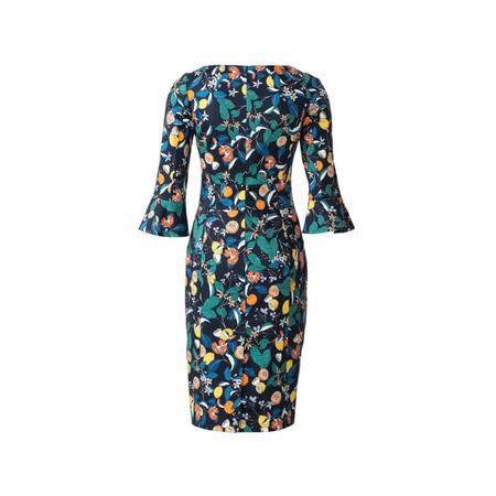 Wykrój BURDA: sukienka z panelem w talii i dwoma rodzajami dekoltu, fig. 7