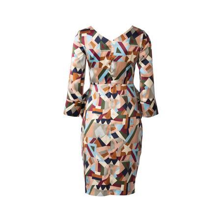 Wykrój BURDA: sukienka zdekoltem wserek, spódnicą zzakładkami iogromnymi kieszeniami, fig. 5