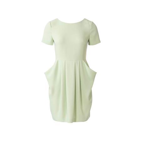 Wykrój BURDA: sukienka zdekoltem wserek, spódnicą zzakładkami iogromnymi kieszeniami, fig. 6