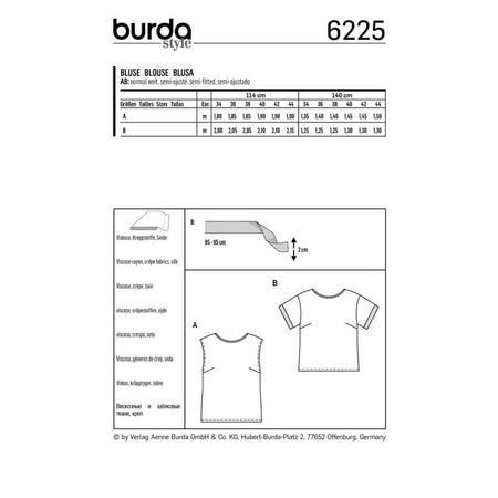 Wykrój BURDA: bluzka itop o prostej formie, fig. 8
