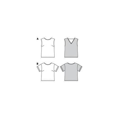 Wykrój BURDA: bluzka itop o prostej formie, fig. 10