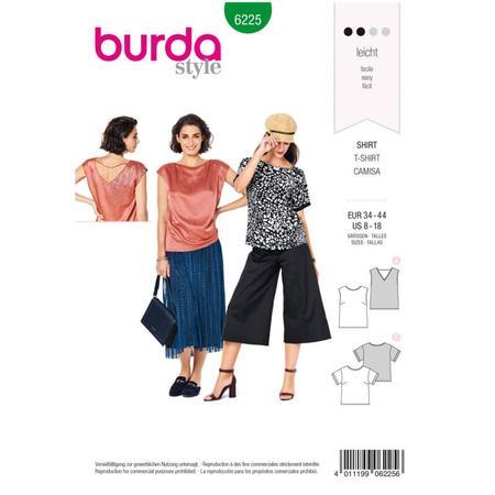 Wykrój BURDA: bluzka itop o prostej formie, fig. 1