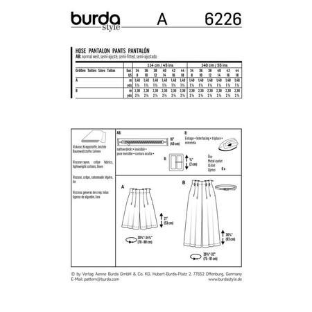 Wykrój BURDA: spodnie bermudy ikuloty zzakładkami, fig. 9