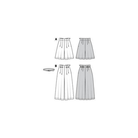 Wykrój BURDA: spodnie bermudy ikuloty zzakładkami, fig. 10