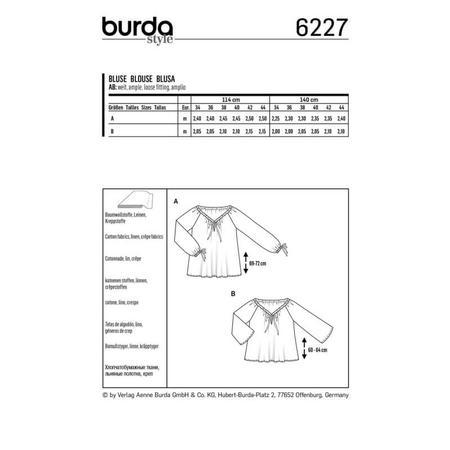 Wykrój BURDA: bluzka zdekoltem carmen i tunelem na tasiemkę, fig. 8