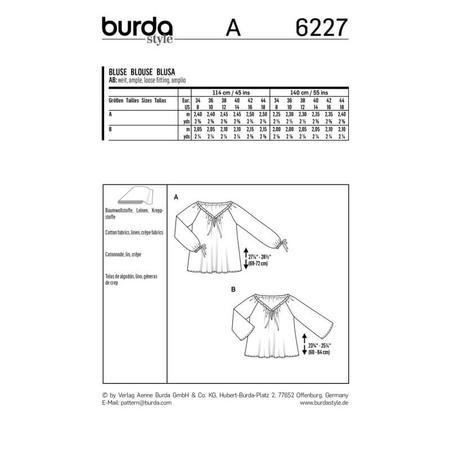 Wykrój BURDA: bluzka zdekoltem carmen i tunelem na tasiemkę, fig. 9