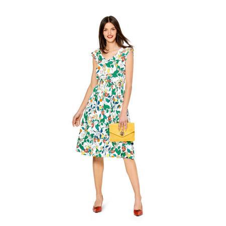 Wykrój BURDA: sukienka zdekoracyjnym marszczeniem + sukienka ołówkowa zdekoltem wszpic, fig. 3