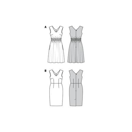 Wykrój BURDA: sukienka zdekoracyjnym marszczeniem + sukienka ołówkowa zdekoltem wszpic, fig. 10