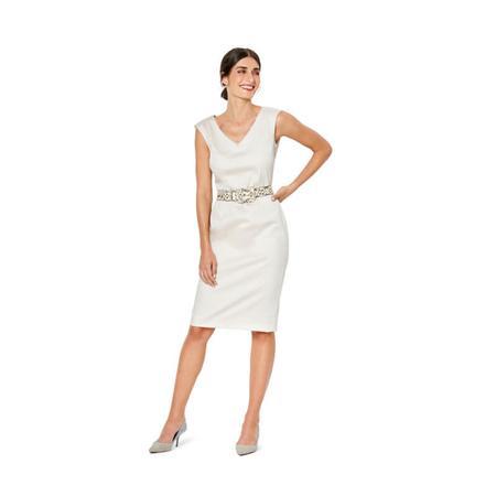 Wykrój BURDA: sukienka zdekoracyjnym marszczeniem + sukienka ołówkowa zdekoltem wszpic, fig. 2