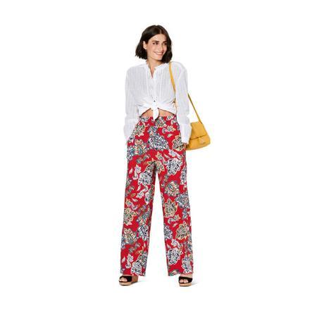 Wykrój BURDA: spodnie zgumą wpasie ikieszeniami wszwach bocznych, zszerokimi nogawkami, fig. 2