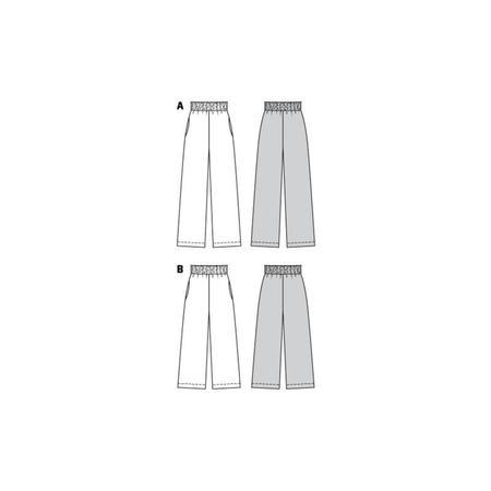 Wykrój BURDA: spodnie zgumą wpasie ikieszeniami wszwach bocznych, zszerokimi nogawkami, fig. 10