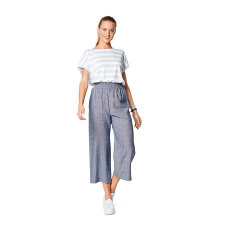 Wykrój BURDA: spodnie zgumą wpasie ikieszeniami wszwach bocznych, zszerokimi nogawkami, fig. 3