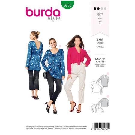 Wykrój BURDA: bluzka zdekoltem wszpic, fig. 1