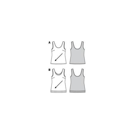 Wykrój BURDA: top zokrągłym dekoltem jedno- lub dwuwarstwowy, fig. 10