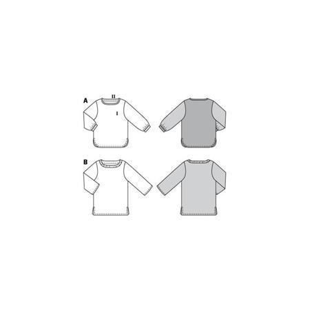 Wykrój BURDA: bluzka zmarszczoną plisą dekoltu i rękawami 3/4, fig. 11