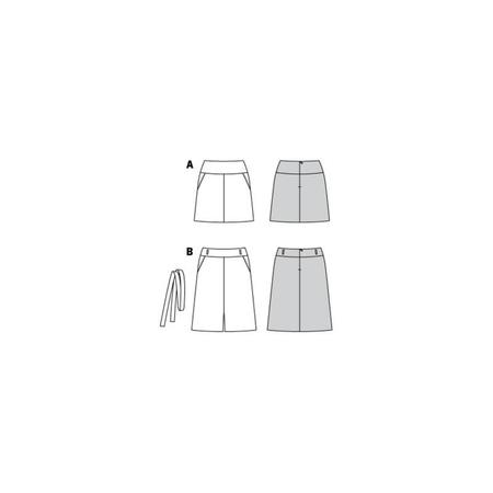 Wykrój BURDA: spódnica zkarczkiem i kieszeniami wkarczku, fig. 10