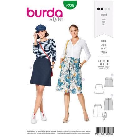 Wykrój BURDA: spódnica zkarczkiem i kieszeniami wkarczku, fig. 1