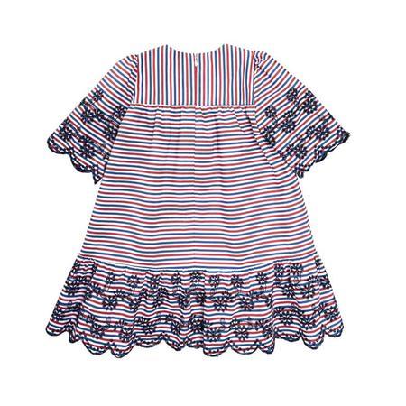 Wykrój BURDA: sukienka zkarczkiem ikołnierzykiem bebe oraz falbanką u dołu, fig. 7