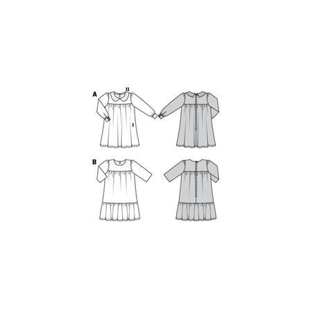 Wykrój BURDA: sukienka zkarczkiem ikołnierzykiem bebe oraz falbanką u dołu, fig. 10
