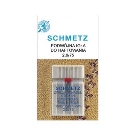 Igła podwójna Schmetz do haftowania 130/705H-E ZWI (różne rozstawy), fig. 1