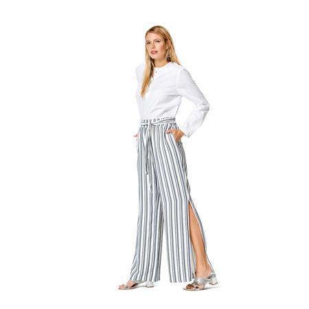 Wykrój BURDA: spodnie lub szorty z gumką w pasie i falbankami przy nogawkach, fig. 2