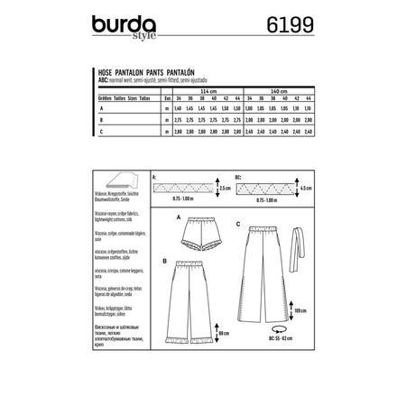 Wykrój BURDA: spodnie lub szorty z gumką w pasie i falbankami przy nogawkach, fig. 8