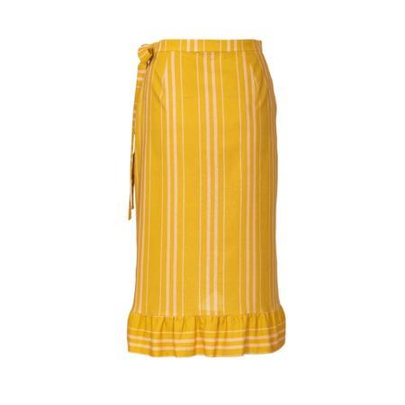 Wykrój BURDA: spódnica kopertową z paskiem i wiązaniami, fig. 6