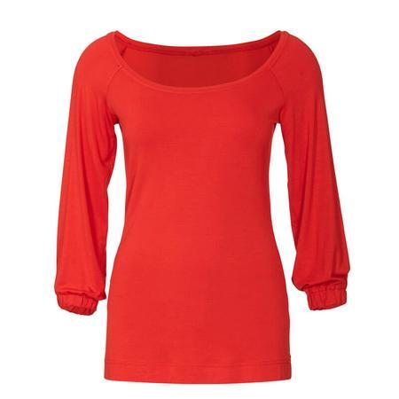 Wykrój BURDA: bluzka zraglanowymi rękawami i szerokim dekoltem, fig. 4