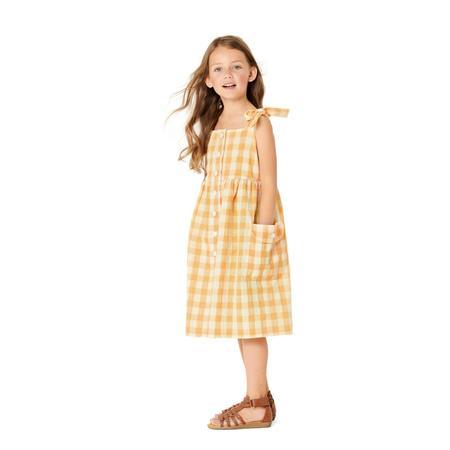 Wykrój BURDA: sukienka na ramiączkach zzapięciem na guziki imarszczoną spódnicą, fig. 2