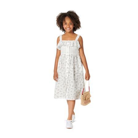 Wykrój BURDA: sukienka na ramiączkach zzapięciem na guziki imarszczoną spódnicą, fig. 3
