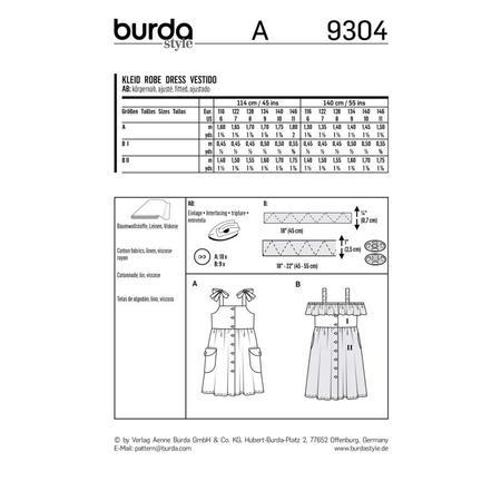 Wykrój BURDA: sukienka na ramiączkach zzapięciem na guziki imarszczoną spódnicą, fig. 9