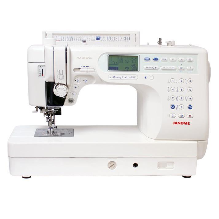 Nowość Profesjonalna maszyna do szycia Janome MC6600P z chwytaczem rotacyjnym PE29